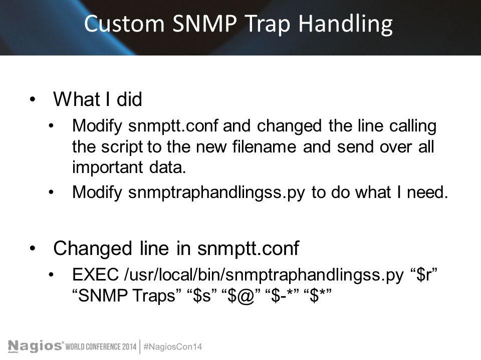Custom SNMP Trap Handling
