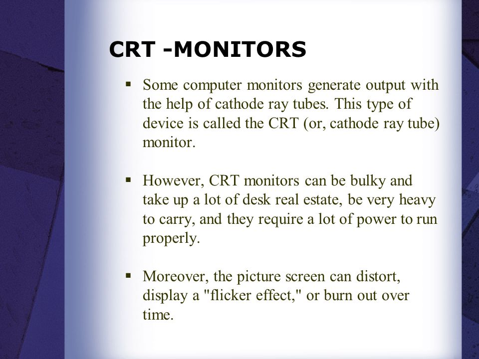 CRT -MONITORS
