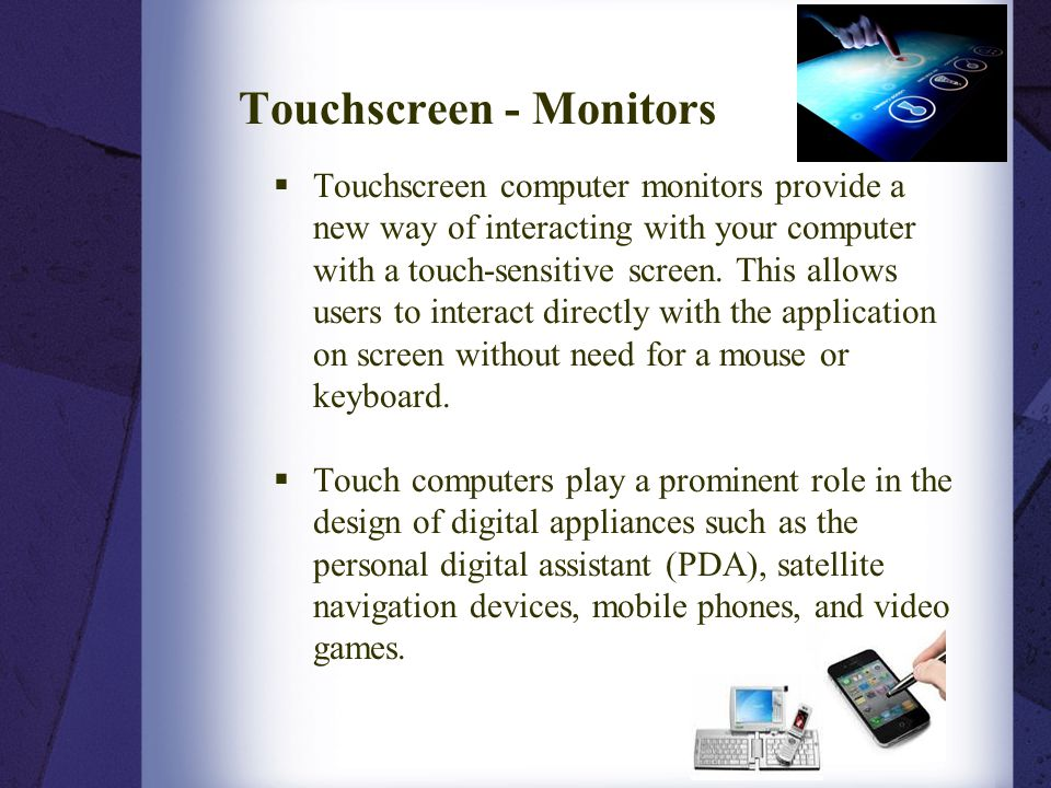 Touchscreen - Monitors