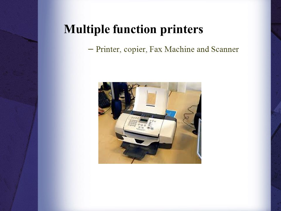 Multiple function printers