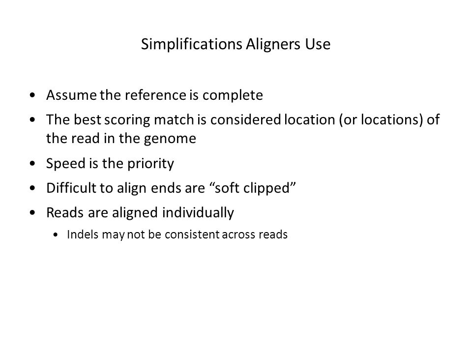 Simplifications Aligners Use