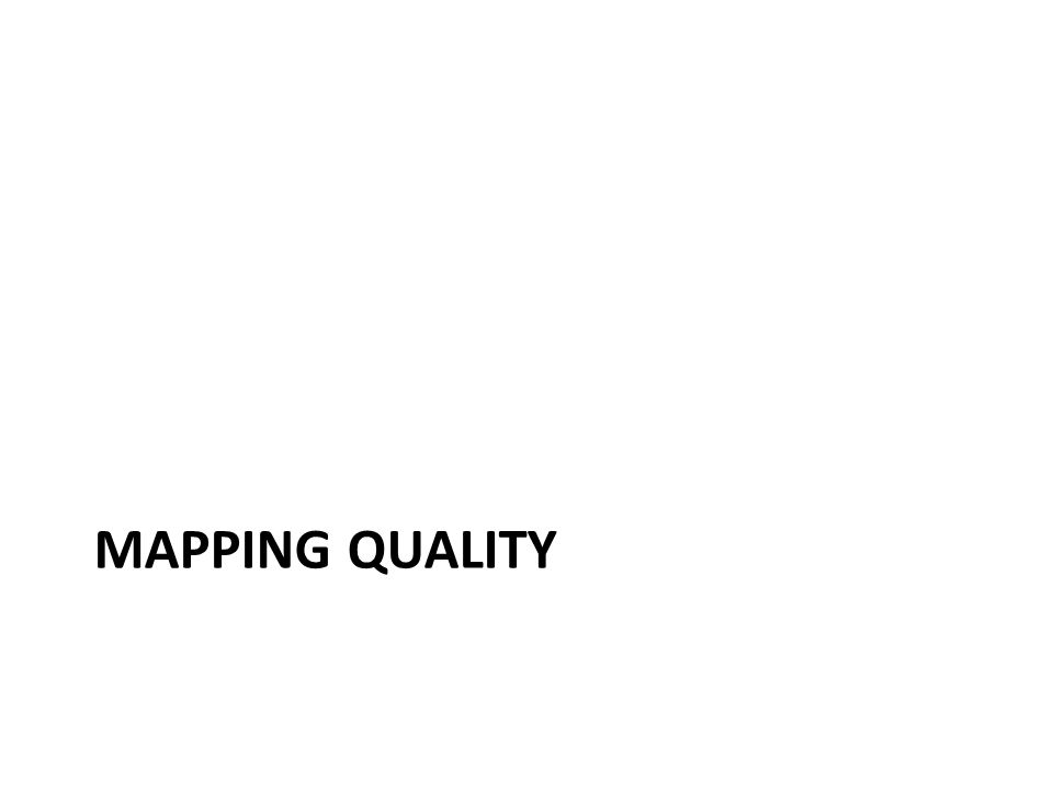 Mapping Quality