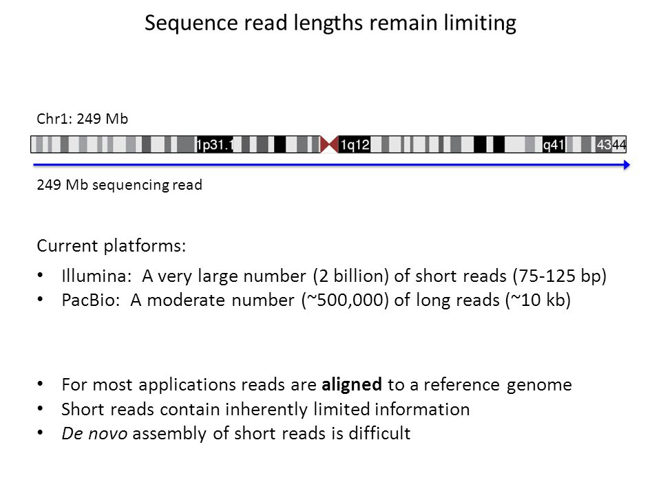 Sequence read lengths remain limiting