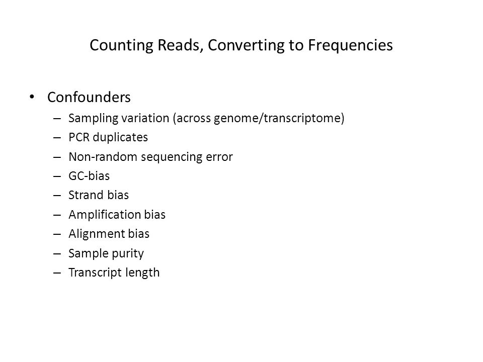 Counting Reads, Converting to Frequencies