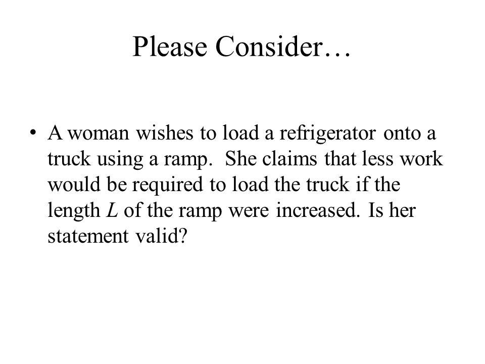 Please Consider…
