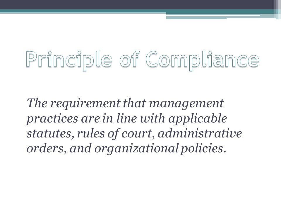 Principle of Compliance