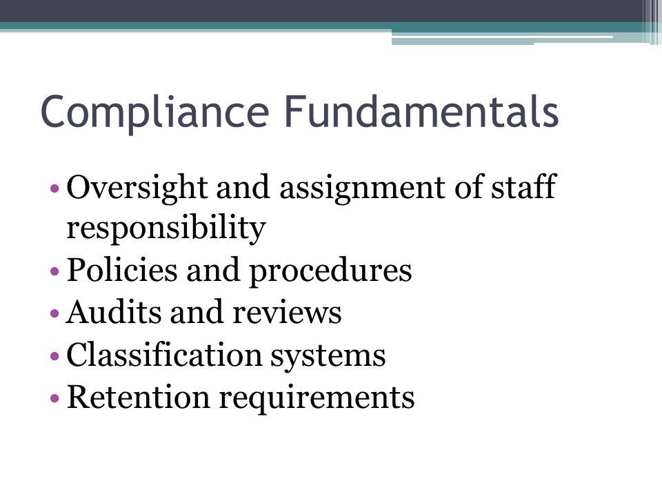 Compliance Fundamentals