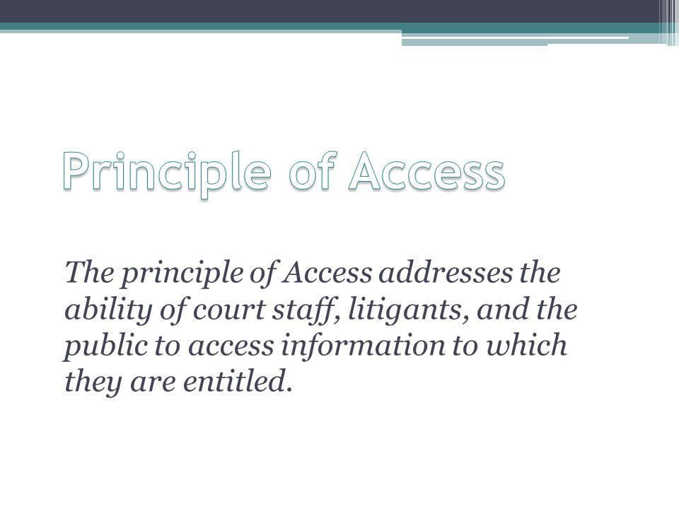Principle of Access