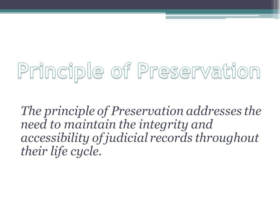 Principle of Preservation
