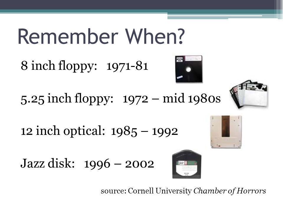 Remember When 8 inch floppy: 1971-81