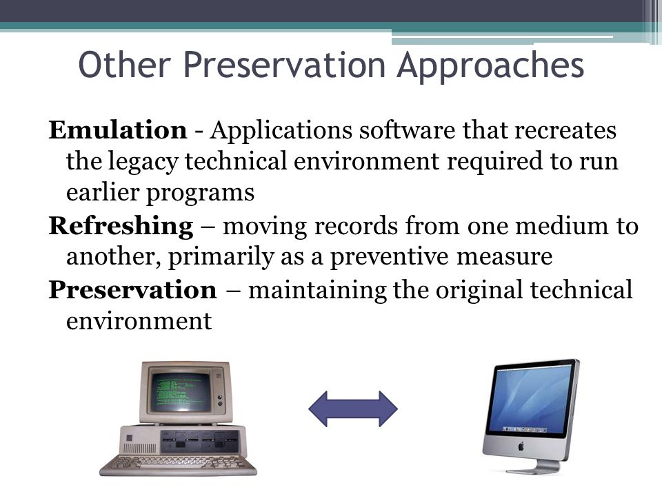 Other Preservation Approaches