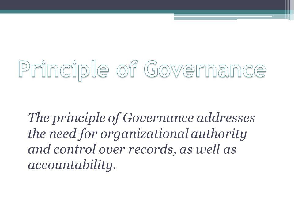 Principle of Governance