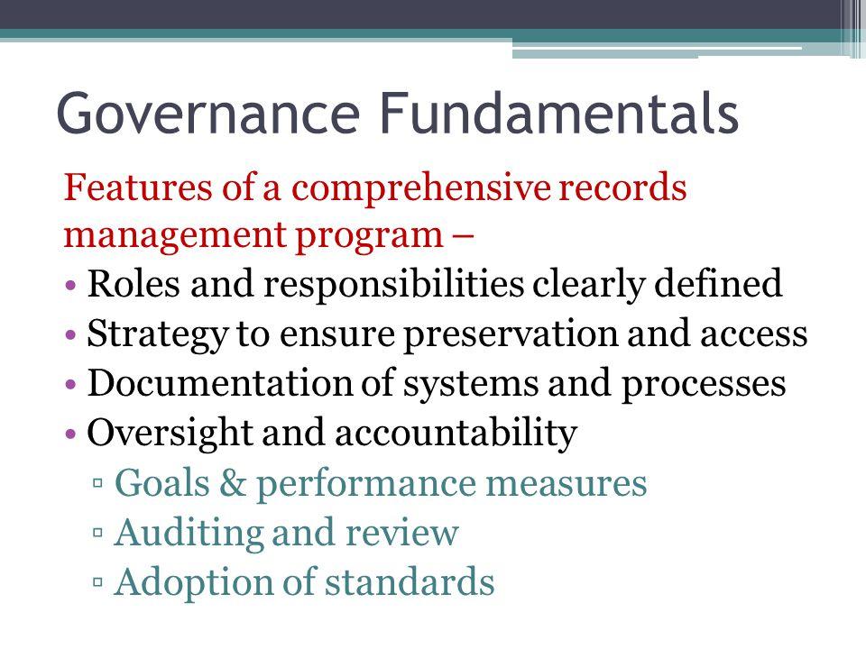 Governance Fundamentals