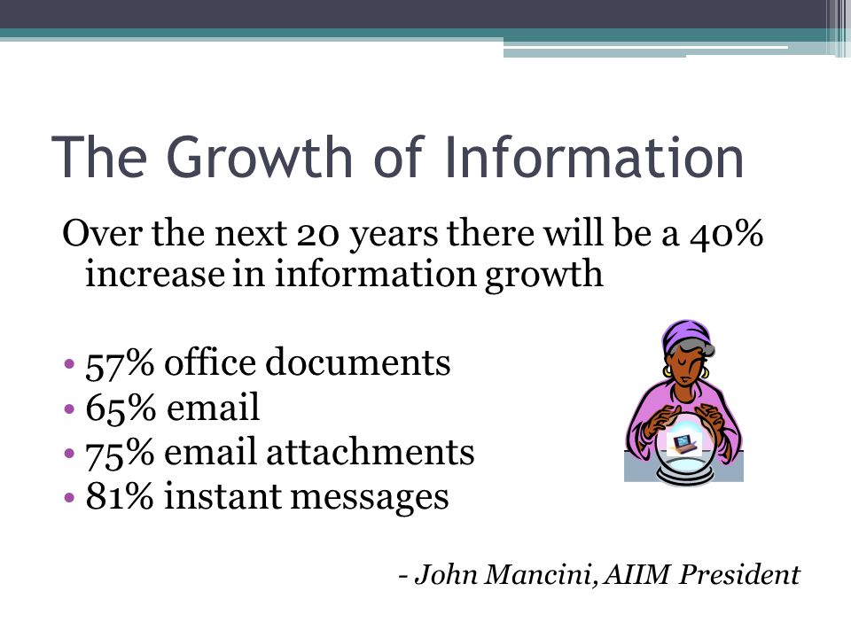 The Growth of Information
