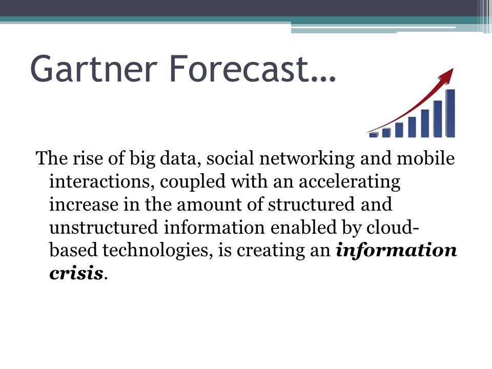 Gartner Forecast…