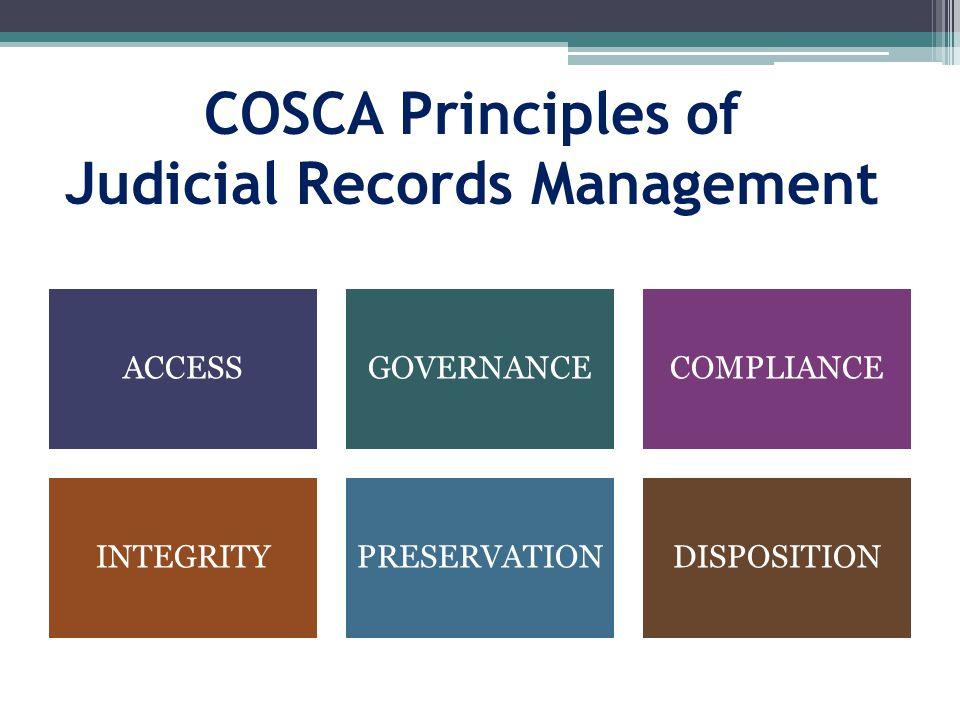 COSCA Principles of Judicial Records Management