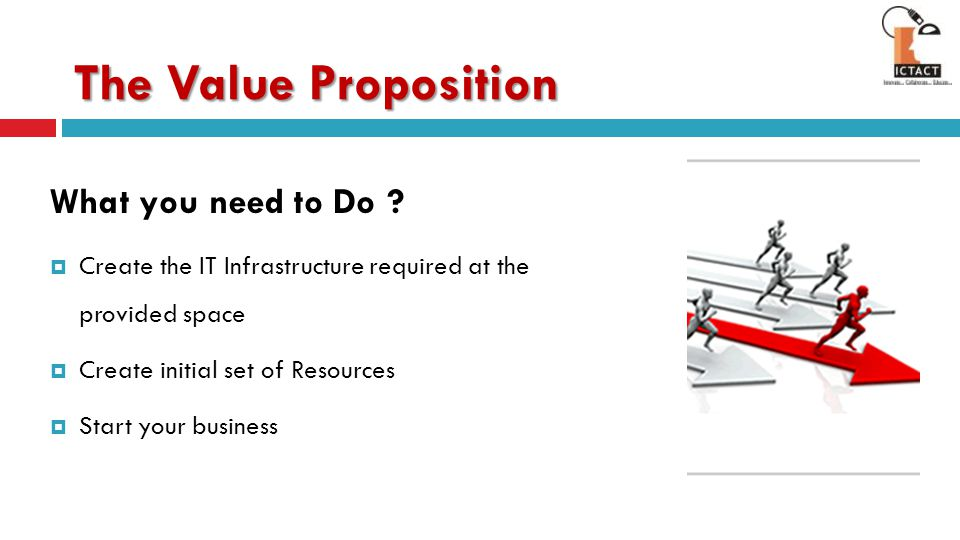 The Value Proposition What you need to Do