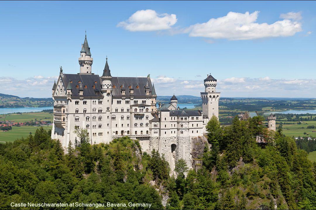 Castle Neuschwanstein at Schwangau, Bavaria, Germany