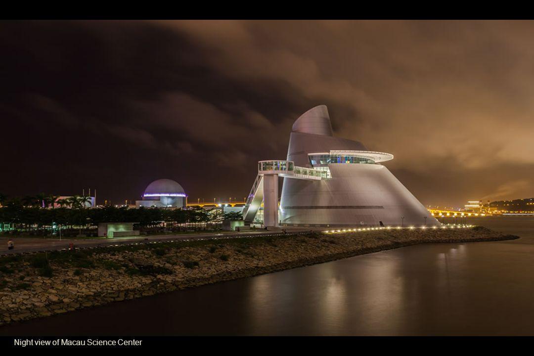 Night view of Macau Science Center