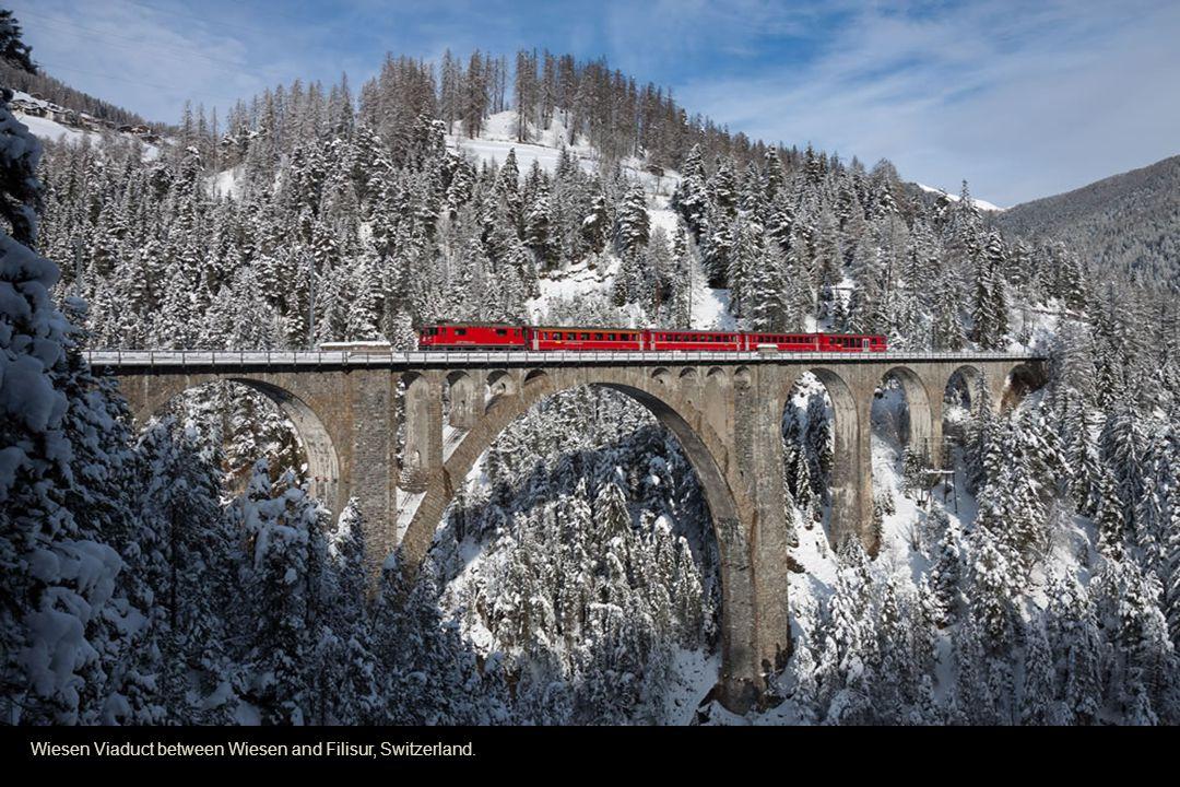 Wiesen Viaduct between Wiesen and Filisur, Switzerland.