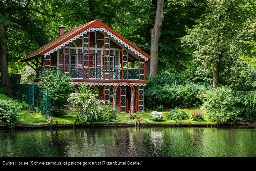 Swiss House (Schweizerhaus) at palace garden of Ritzenbüttel Castle.