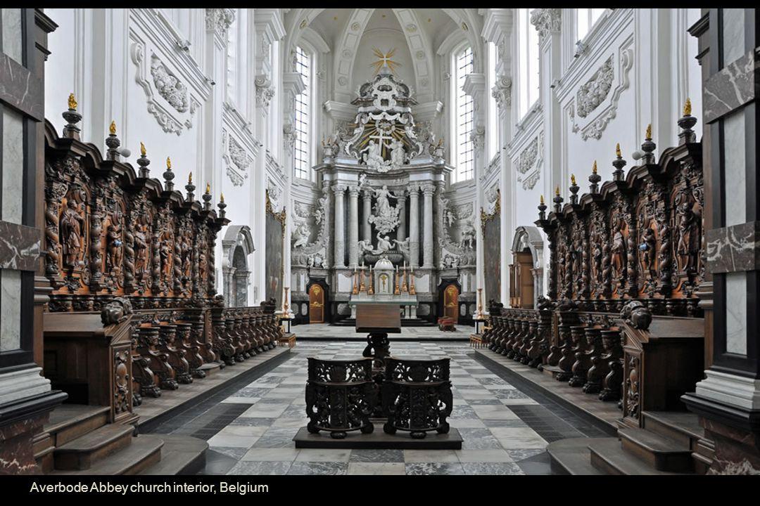 Averbode Abbey church interior, Belgium