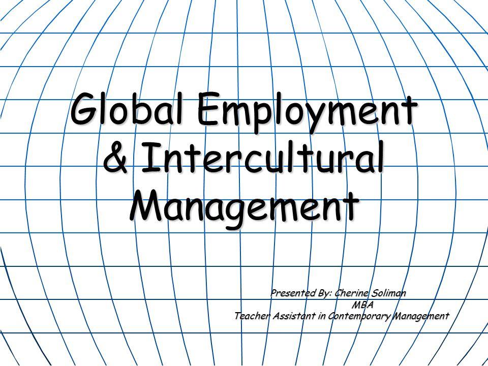 Global Employment & Intercultural Management