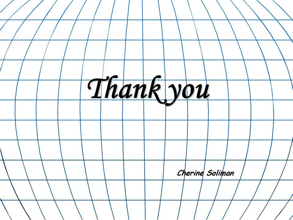 Thank you Cherine Soliman