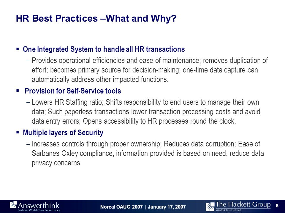 HR Best Practices –What and Why