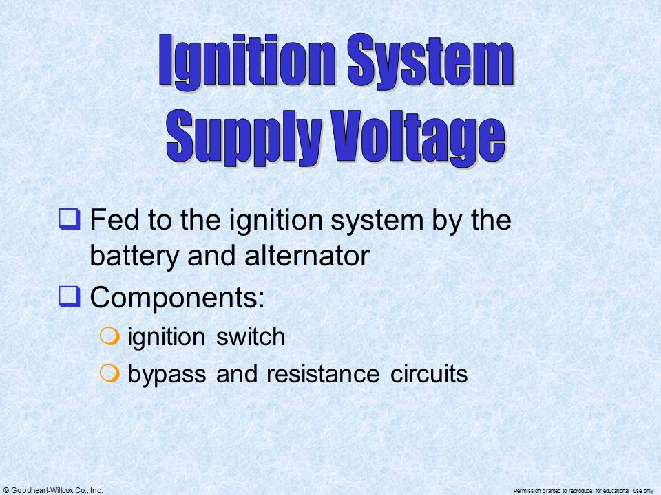 Ignition System Supply Voltage