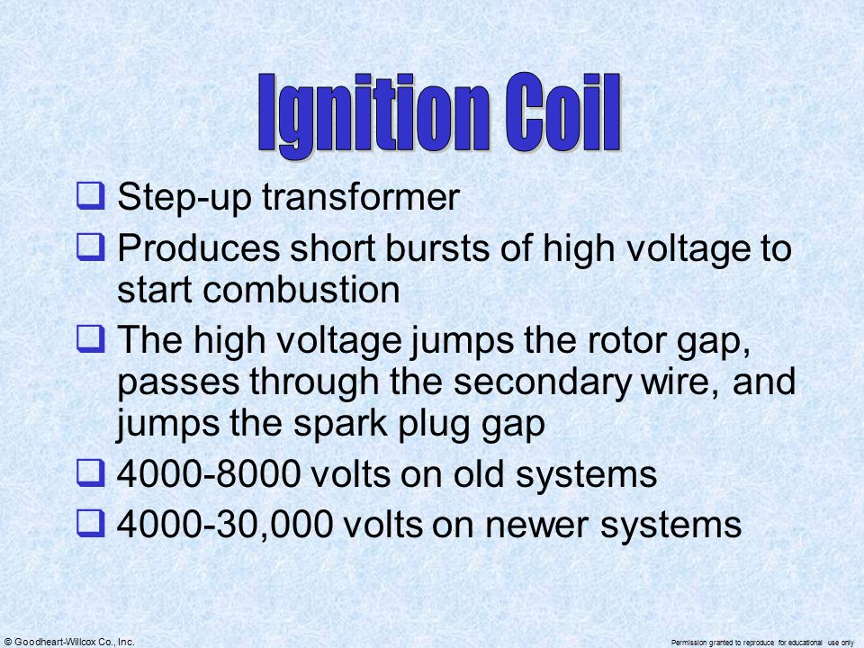 Ignition Coil Step-up transformer