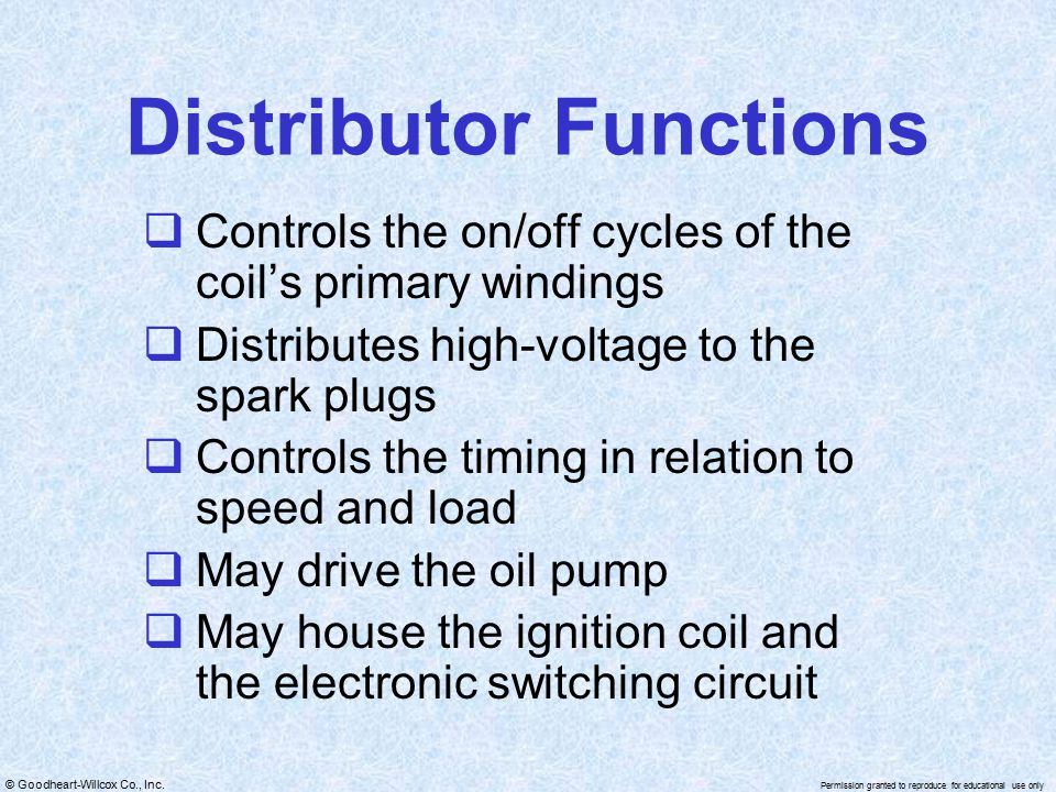 Distributor Functions