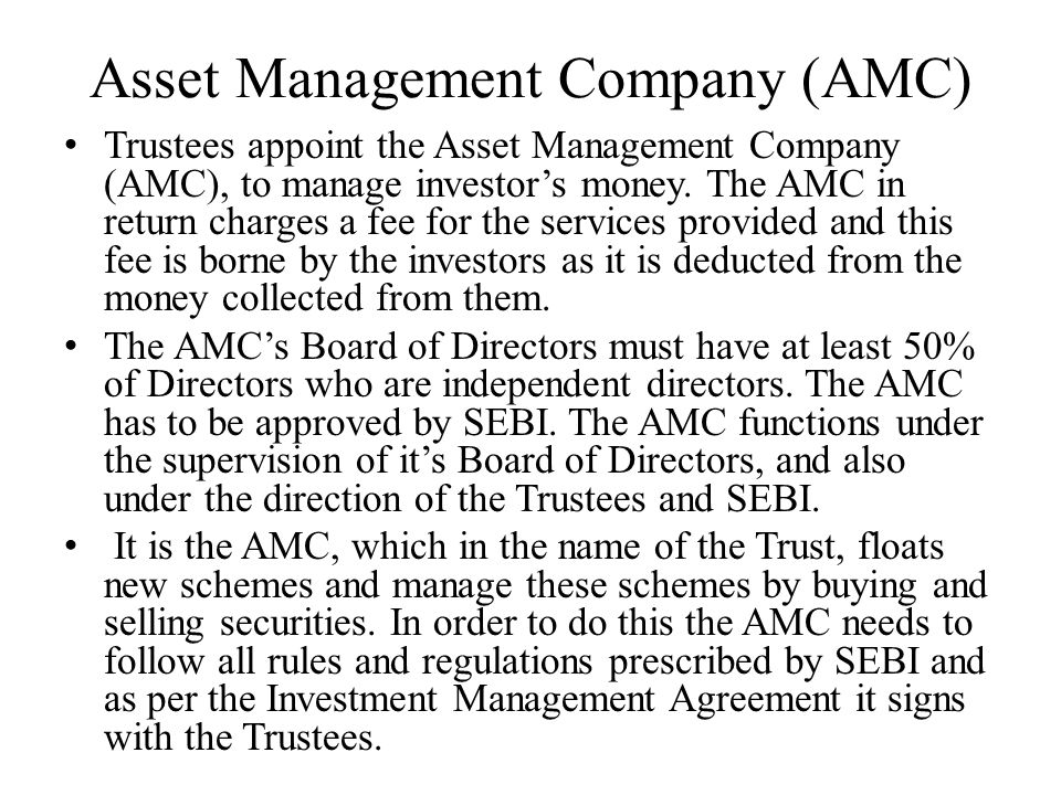 Asset Management Company (AMC)