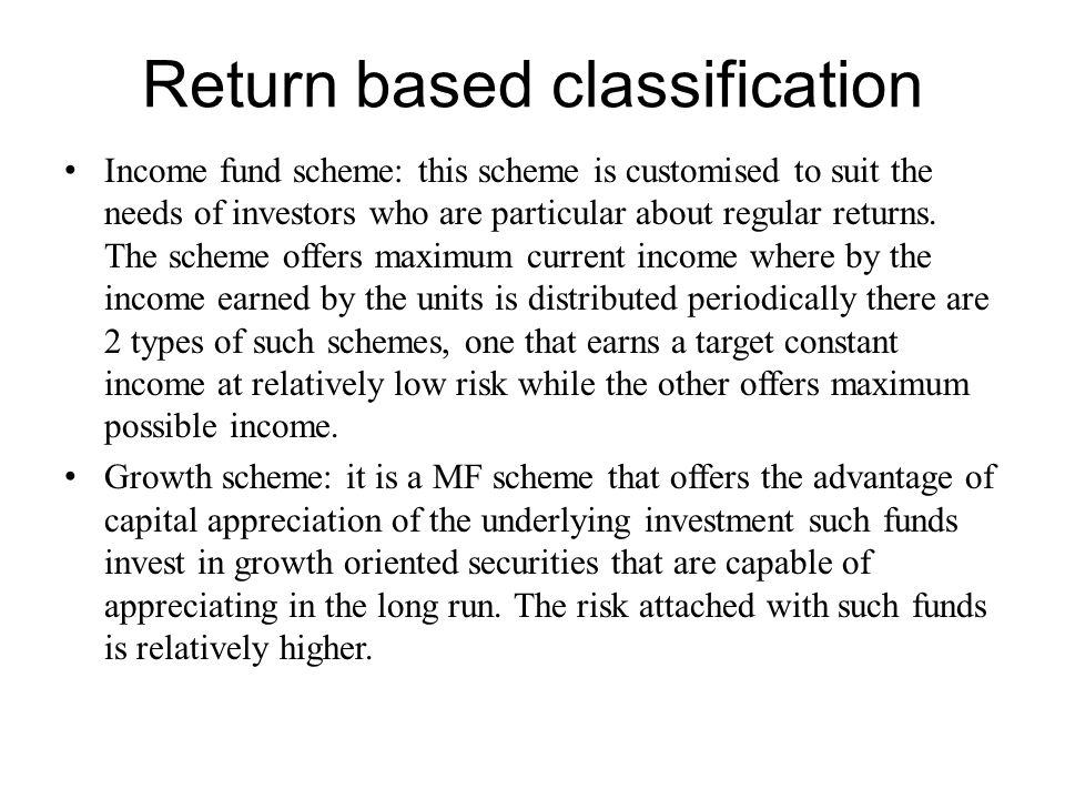 Return based classification