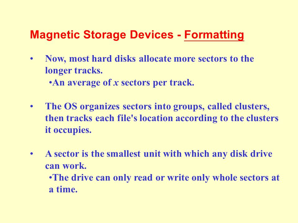 Section 5a Types of Storage Devices. - ppt video online download