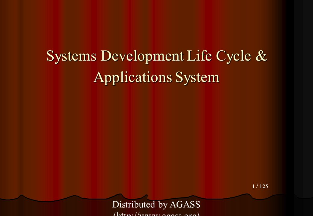 Systems Development Life Cycle & Applications System