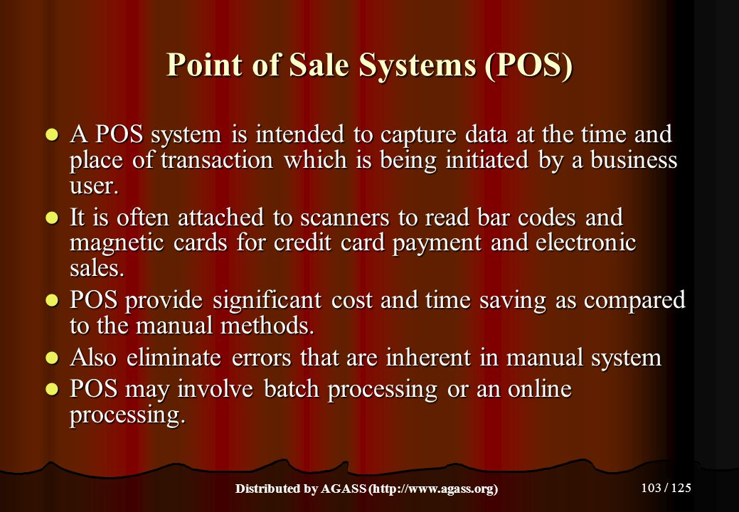 Point of Sale Systems (POS)