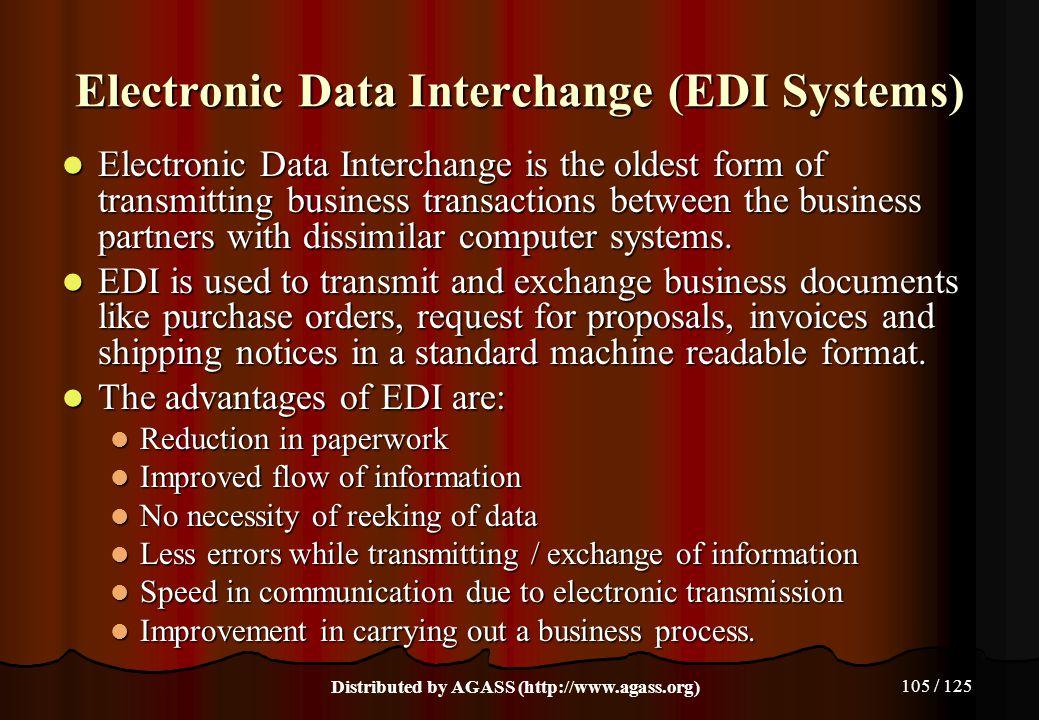 Electronic Data Interchange (EDI Systems)