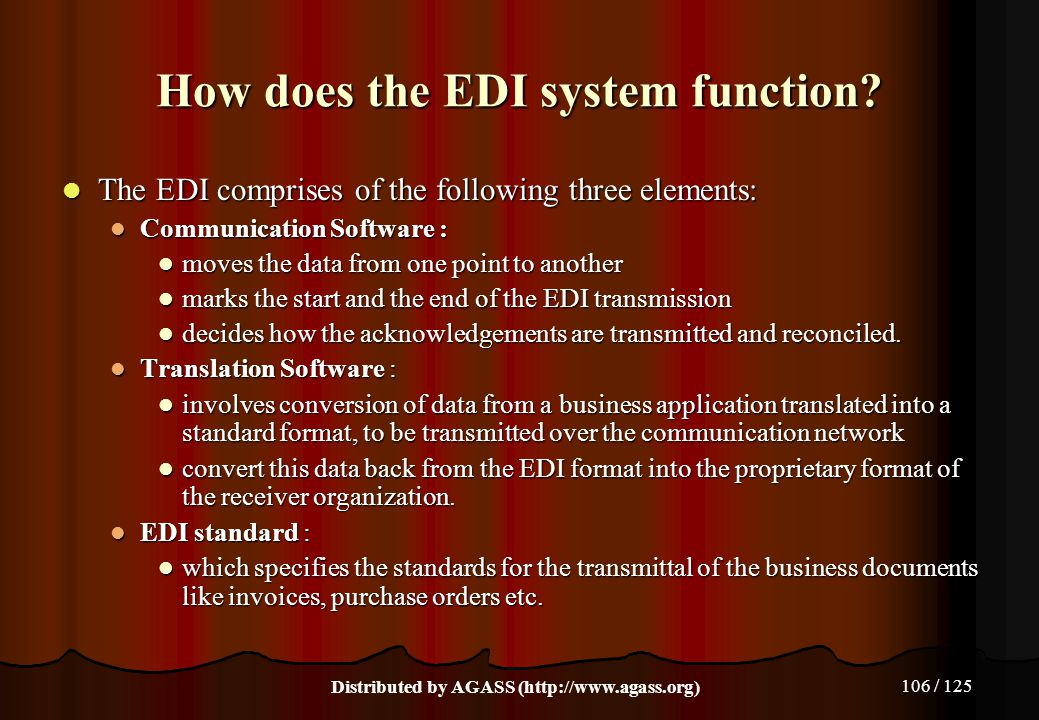 How does the EDI system function