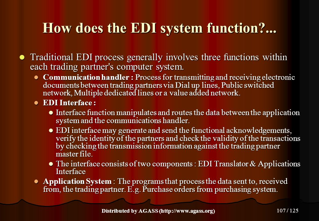 How does the EDI system function ...