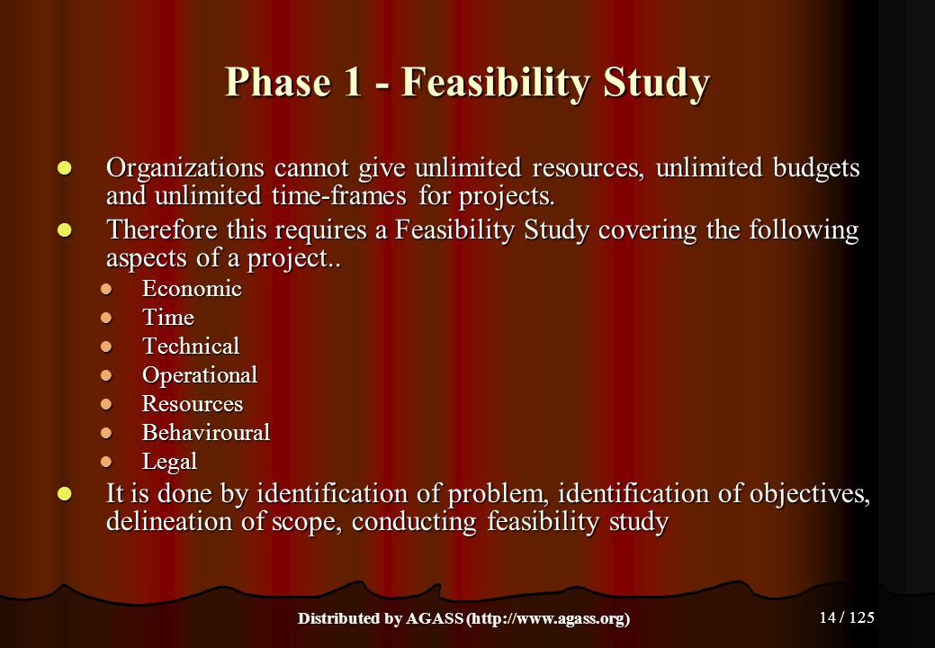 Phase 1 - Feasibility Study
