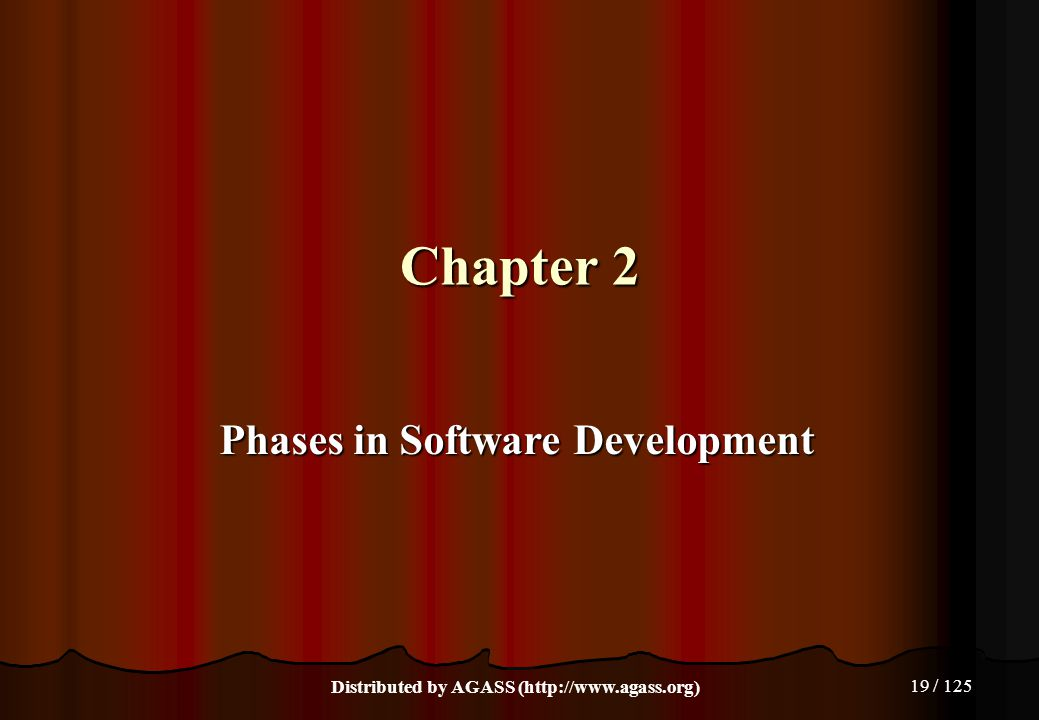 Chapter 2 Phases in Software Development