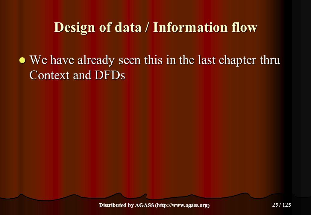 Design of data / Information flow