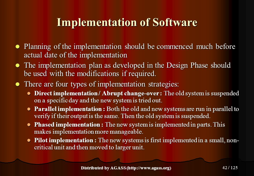 Implementation of Software