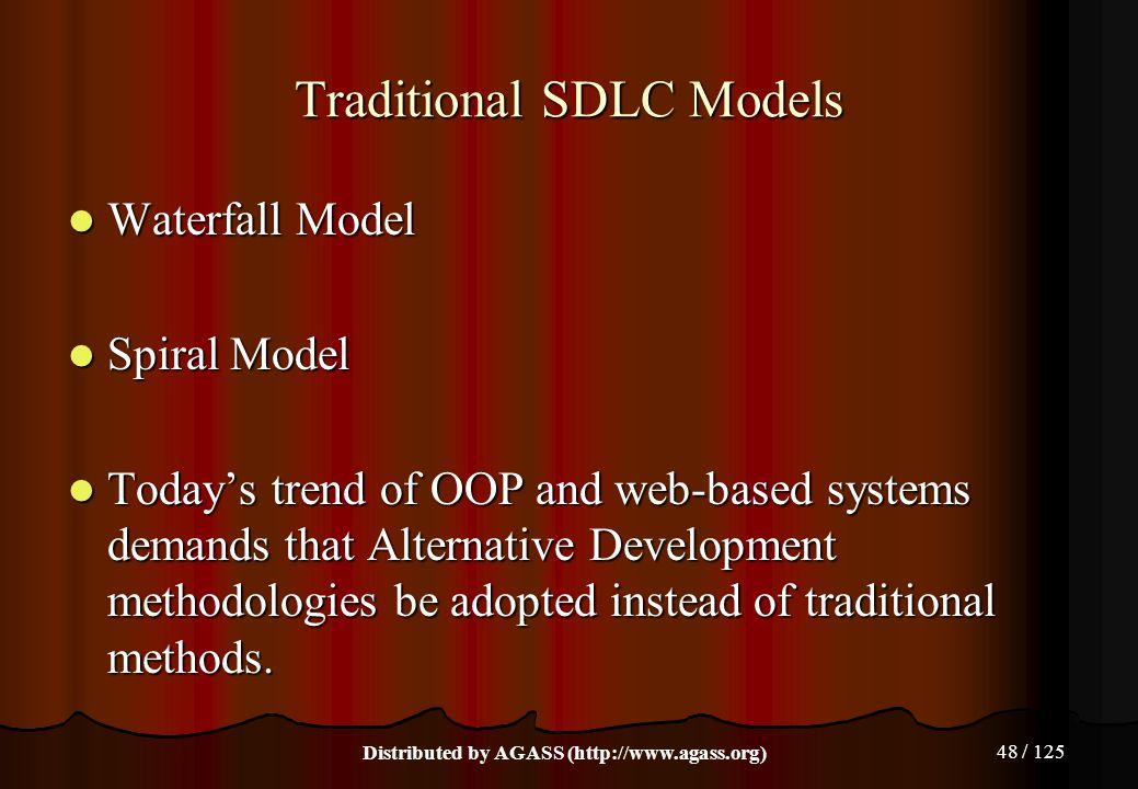 Traditional SDLC Models