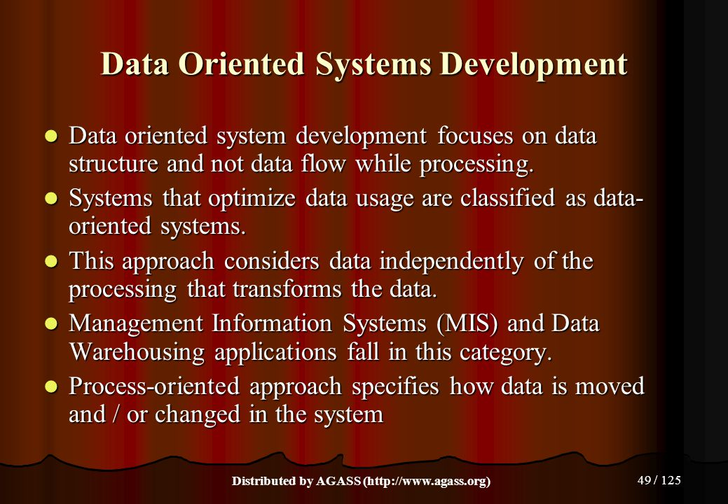 Data Oriented Systems Development
