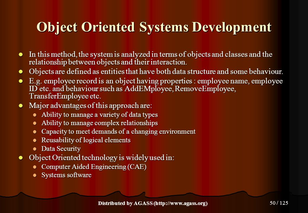 Object Oriented Systems Development