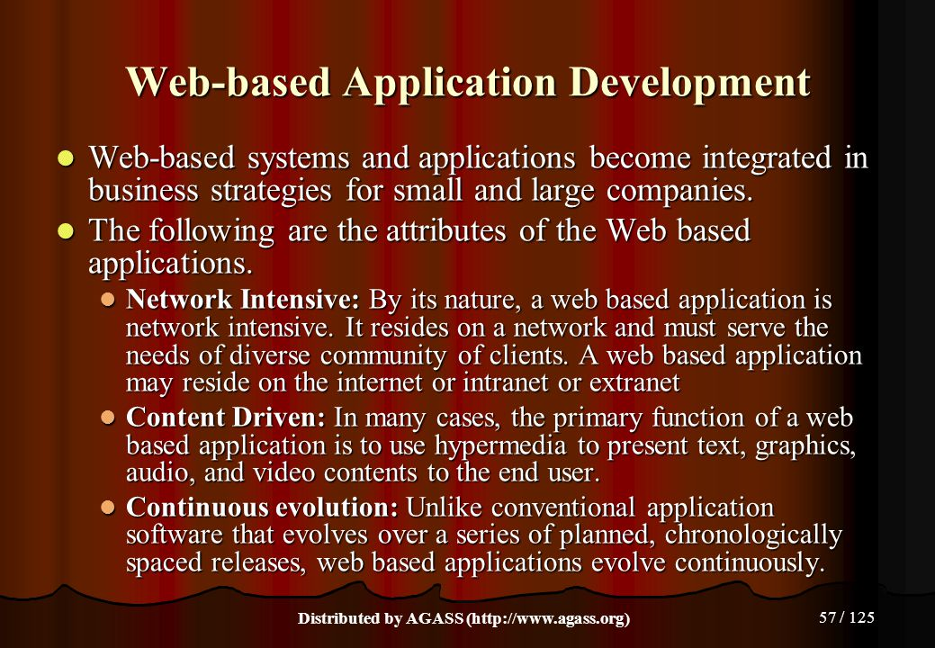 Web-based Application Development