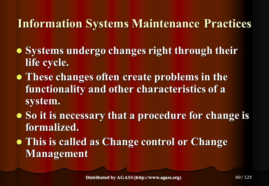 Information Systems Maintenance Practices