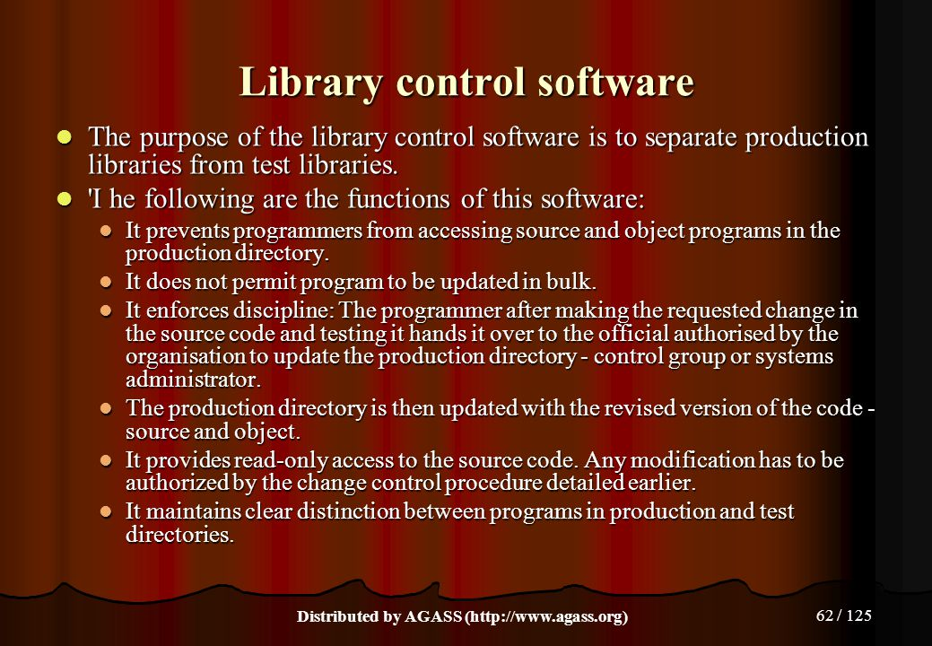 Library control software